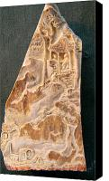 Figures Reliefs Canvas Prints - Carving A Landscape Canvas Print by Debbi Chan