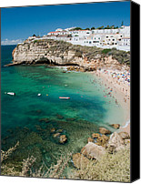 Fun Houses Canvas Prints - Carvoeiro Grotto Canvas Print by Jim Chamberlain