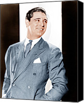 Gray Suit Canvas Prints - Cary Grant, Ca. Early 1930s Canvas Print by Everett