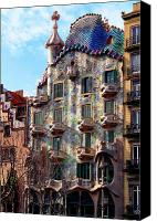 Dragon Photo Canvas Prints - Casa Batllo Canvas Print by Vincent Abbey