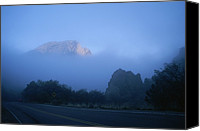 Casa Grande. Canvas Prints - Casa Grande, A Peak In The Chisos Canvas Print by Medford Taylor