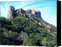 Casa Grande. Canvas Prints - Casa Grande from Behind Canvas Print by Chanda Henne
