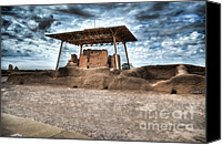 Casa Grande Canvas Prints - Casa Grande Ruins I Canvas Print by Donna Van Vlack