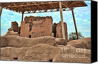 Casa Grande. Canvas Prints - Casa Grande Ruins II Canvas Print by Donna Van Vlack