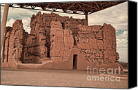 Casa Grande Canvas Prints - Casa Grande Ruins III Canvas Print by Donna Van Vlack
