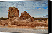 Casa Grande Canvas Prints - Casa Grande Ruins IV Canvas Print by Donna Van Vlack