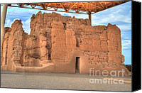 Casa Grande. Canvas Prints - Casa Grande Ruins V Canvas Print by Donna Van Vlack