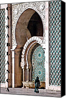 Casablanca Canvas Prints - Casablanca Mosque Canvas Print by Linda  Parker