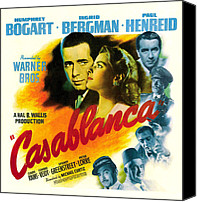 Postv Photo Canvas Prints - Casablanca, Poster Art, Humphrey Canvas Print by Everett