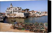 Village Canvas Prints - Cascais Bay Canvas Print by Carlos Caetano