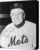 New York Mets Canvas Prints - Casey Stengel (1890-1975) Canvas Print by Granger