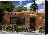 Santa Fe Digital Art Canvas Prints - Casita de Santa Fe Canvas Print by Kurt Van Wagner