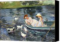 Rowboat Canvas Prints - Cassatt: Summertime, 1894 Canvas Print by Granger