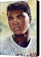 Featured Canvas Prints - Cassius Clay Canvas Print by Rich Marks
