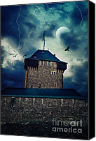 Creepy Canvas Prints - Castle Burg Canvas Print by Angela Doelling AD DESIGN Photo and PhotoArt