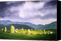 Featured Painting Canvas Prints - Castle Rigg Stone Circle Canvas Print by Paul Dene Marlor