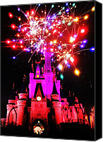 Fireworks Canvas Prints - Castle Show Canvas Print by Benjamin Yeager