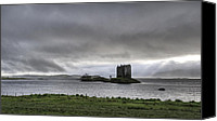 Susan Canvas Prints - Castle Stalker dusk Canvas Print by Gary Eason