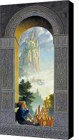 Blonde Canvas Prints - Castles in the Sky Canvas Print by Greg Olsen