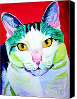Tabby Painting Canvas Prints - Cat - Zooey Canvas Print by Alicia VanNoy Call
