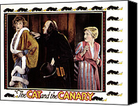 Horror Fantasy Movies Canvas Prints - Cat And The Canary, Gertrude Astor Canvas Print by Everett