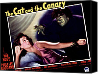 Horror Fantasy Movies Photo Canvas Prints - Cat And The Canary, The, Paulette Canvas Print by Everett