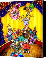 Acrobats Canvas Prints - Cat Circus 1 Canvas Print by Sherry Dole