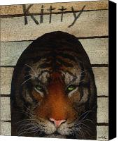 Kitty Canvas Prints - Cat House... Canvas Print by Will Bullas