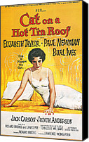 Elizabeth Taylor Canvas Prints - Cat on a Hot Tin Roof Canvas Print by Nomad Art And  Design