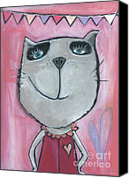 Tom Boy Canvas Prints - Cat Rose Canvas Print by Sonja Mengkowski