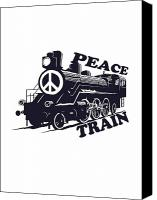 Artists Canvas Prints - Cat Stevens - Peace Train is coming Canvas Print by Lee Brown