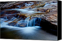 Forest Canvas Prints - Cataract Falls Canvas Print by Chad Dutson