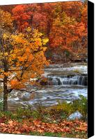 Indiana Autumn Canvas Prints - Cataract Falls Canvas Print by Jeff VanDyke