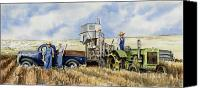 John Deere Tractor Canvas Prints - Catesby Cuttin 1938 Canvas Print by Sam Sidders