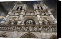 Church Photo Canvas Prints - Cathedral Notre Dame of Paris. France   Canvas Print by Bernard Jaubert