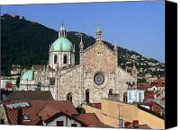 Lago Di Como Canvas Prints - Cathedral of Como Canvas Print by Lia Attelram