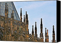 Architectural Detail Canvas Prints - Cathedral of SS Vitus - Prague Castle Hradcany - Prague Canvas Print by Christine Till