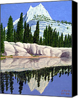 Reflections Canvas Prints - Cathedral Peak Canvas Print by Frederic Kohli