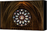 Cathedral Canvas Prints - Cathedral Window Canvas Print by Adrian Evans