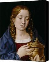 Magdalene Canvas Prints - Catherine of Aragon as the Magdalene Canvas Print by Michiel Sittow