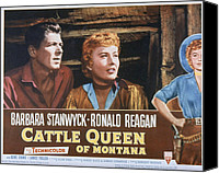Fid Photo Canvas Prints - Cattle Queen Of Montana, Ronald Reagan Canvas Print by Everett