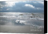 Beach Photograph Canvas Prints - Caught a Wave Canvas Print by B Rossitto