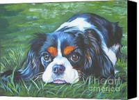 Original Canvas Prints - Cavalier King Charles Spaniel tricolor Canvas Print by Lee Ann Shepard