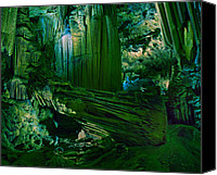 Cavern Canvas Prints - Cavern of the Green Canvas Print by Wade Aiken