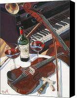 Red Wine Canvas Prints - Caymus Break Canvas Print by Christopher Mize