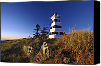 Sand Fences Canvas Prints - Cedar Dunes Provincial Lighthouse Canvas Print by David Nunuk