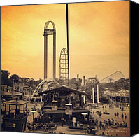Featured Canvas Prints - #cedarpoint #ohio #ohiogram #amazing Canvas Print by Pete Michaud
