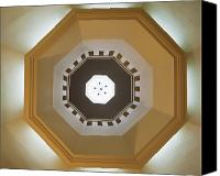 Octagonal Canvas Prints - Ceiling Of An Octagonal Dome Canvas Print by Noam Armonn