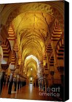 Great Mosque Canvas Prints - Ceilings inside the Catedral de Cordoba Canvas Print by Sami Sarkis