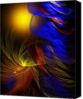 Fine Art Fractal Art Canvas Prints - Celebrate Canvas Print by David Lane